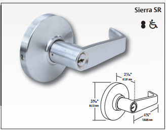 arrow rl series rl12 sr ic 26d storeroom sfic cylindrical lever lock. Black Bedroom Furniture Sets. Home Design Ideas