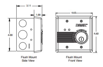 Detex Eax 2500f Rwe Flush Mount 12 24vac Dc Powered Alarm