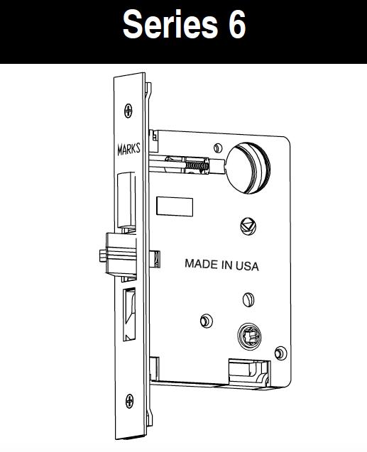 Lock Lock Usa marks usa 6 series mortise lock bodies