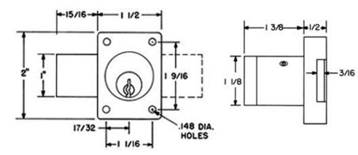 Olympus Lock 754lc 26d 1 3 8 Quot Less Cylinder Sargent